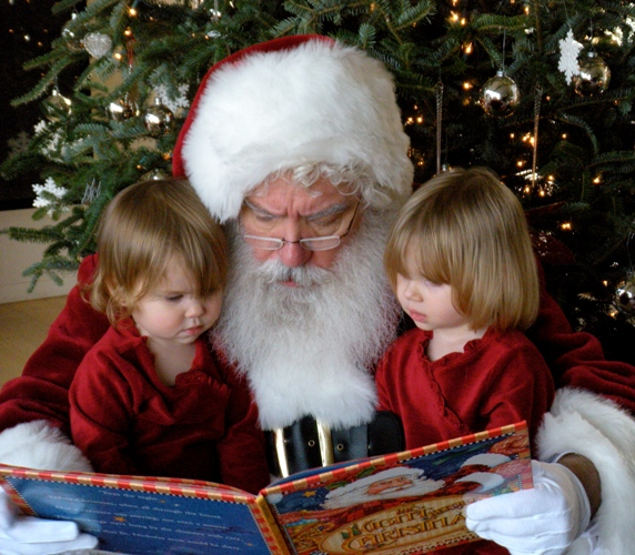 Santa, Hailey and Ashlynn