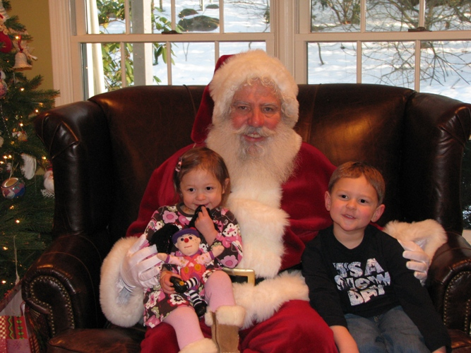 Santa, Katelyn and Andrew